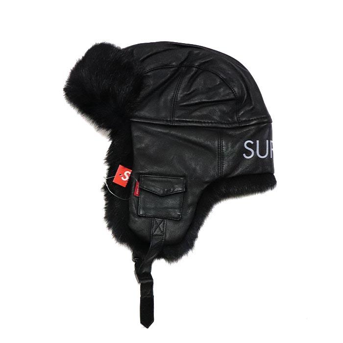 国内正規品 2016AW Supreme Leather Trooper Black 新品未使用品 [ シュプリーム レザー トゥルーパー  ブラック 黒 ]