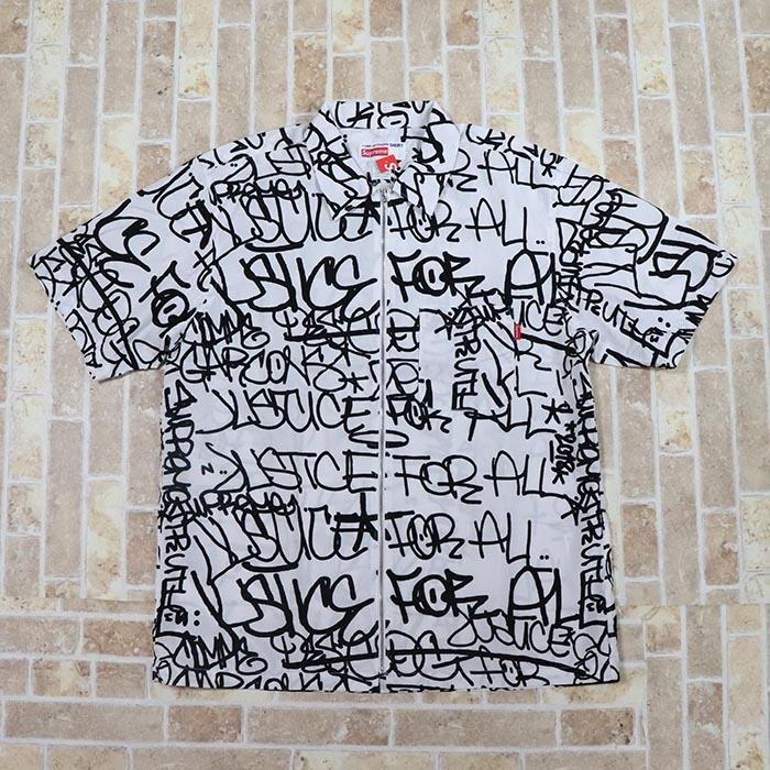 国内正規品 2018AW Supreme × Comme des Garcons Cotton Graphic S/S Shirt White 新品未使用品 [ シュプリーム コムデギャルソン コットン グラフィック シャツ ホワイト 白 ]