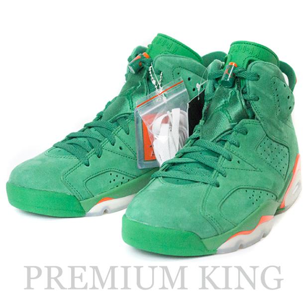 """国内正規品 2017AW NIKE Air Jordan 6 """"GATORADE"""" Pine Green/Orange Blaze-Pine Green 新品未使用品 [ ナイキ エアー ジョーダン ゲータレード グリーン 緑 AJ5986-335 ]"""