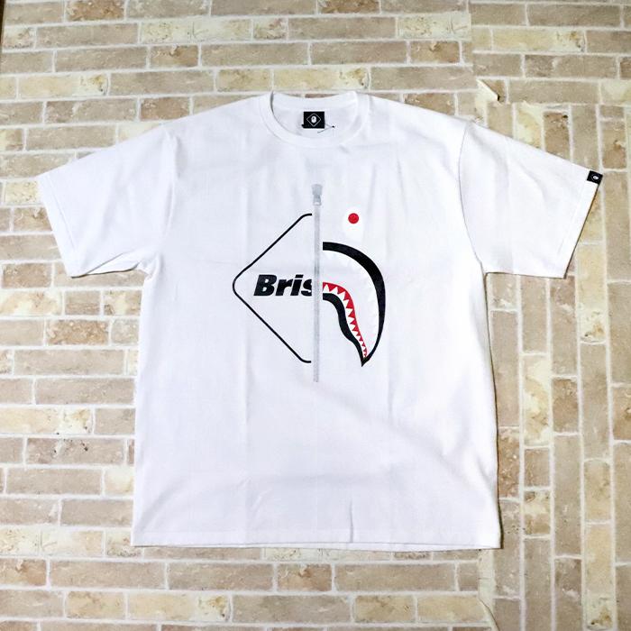 国内正規品 2019SS A BATHING APE BAPE × F.C. Real Bristol SHARK TEE WHITE 新品未使用品 [ ベイシングエイプ ベイプ F.C.R.B. シャーク Tシャツ FCRB 白 ]