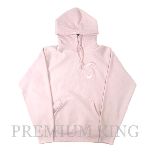国内正規品 2017AW Supreme Tonal S Logo Hooded Sweatshirt Pale Pink 新品未使用品 [ シュプリーム トーナル フーディー パーカー ペール ピンク ]