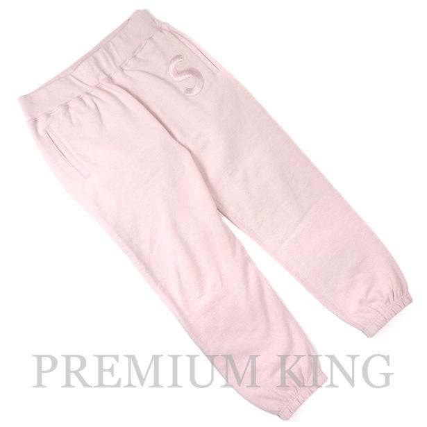 国内正規品 2017AW Supreme Tonal S Logo Sweat Pant Pale Pink 美中古品 [ シュプリーム トーナル スウェット パンツ ペール ピンク ]