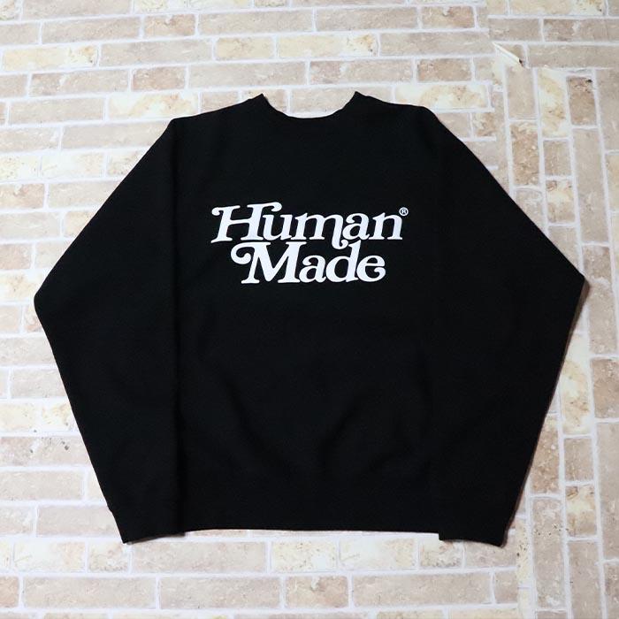 国内正規品 伊勢丹限定 2019SS HUMAN MADE × Girls Don't Cry Sweatshirt Black 新品未使用品 [ ガールズ ドント クライ ヒューマンメイド スウェットシャツ ブラック 黒 ]