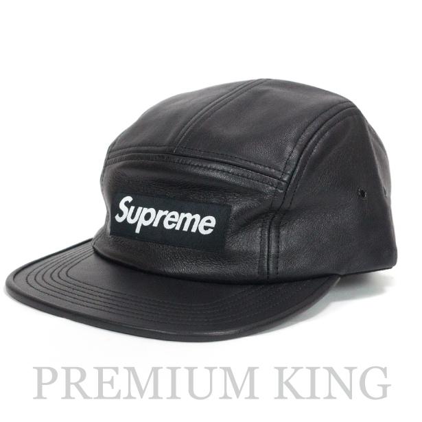 15e45c84705 正規品 2016FW Supreme Leather camp cap Black 新品未使用品   シュプリーム レザー キャンプ.