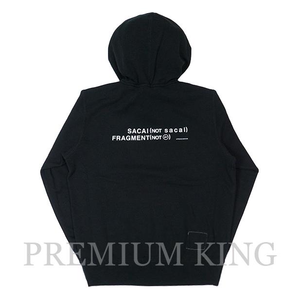 国内正規品 2017AW SACAI × FRAGMENT DESIGN Sweatshirt Black 新品未使用品 [ サカイ フラグメント デザイン パーカー ブラック 黒 ]