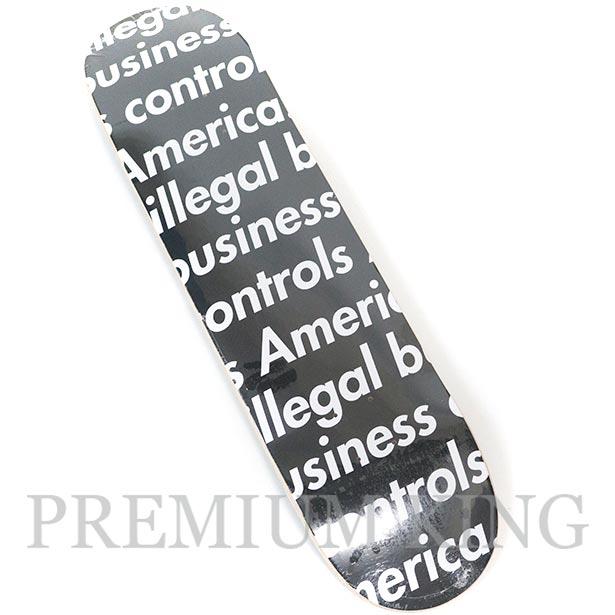 国内正規品 2018SS Supreme Illegal Business Skateboard Black 新品未使用品 [ シュプリーム イリーガル ビジネス スケートボード ブラック 黒 ]