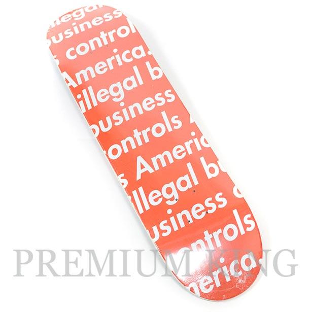 国内正規品 2018SS Supreme Illegal Business Skateboard Red 新品未使用品 [ シュプリーム イリーガル ビジネス スケートボード レッド 赤 ]