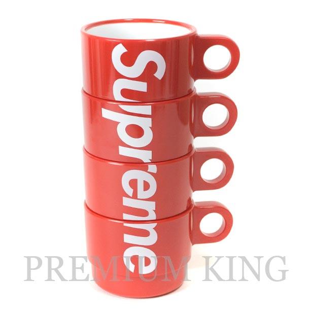 国内正規品 2018SS Supreme Stacking Cups Set of 4 Red 新品未使用品 [ シュプリーム スタッキング カップ 4個 セット レッド ]