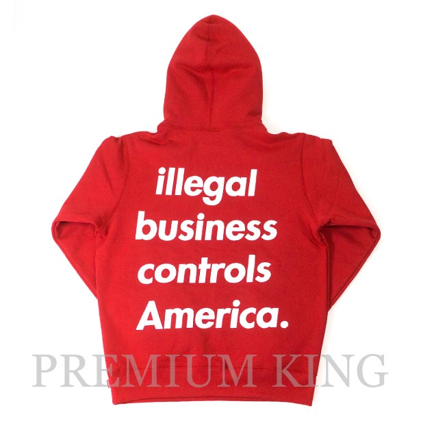 国内正規品 2018SS Supreme Illegal Business Hooded Sweatshirt Red 新品未使用品 [ シュプリーム イリーガル ビジネス フーディー パーカー レッド ]