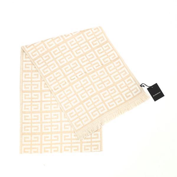 2012AW GIVENCHY Logo Wool Stall Ivory 新品未使用品 〔 ジバンシー ロゴ ウール ストール アイボリー マフラー 63001D 0006〕