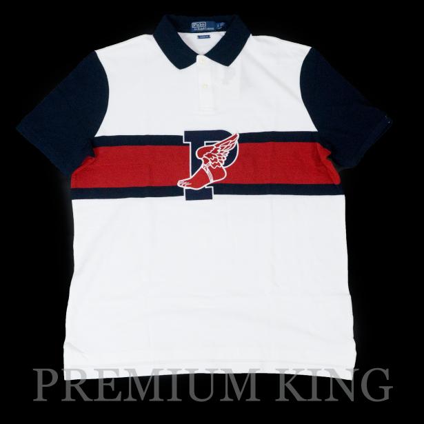 国内正規品 Ralph Lauren Stadium 1992 Collection Polo shirts P-Wing 新品未使用品 [25周年記念 ラルフローレン ポロシャツ ピーウィング ホワイトマルチ ]