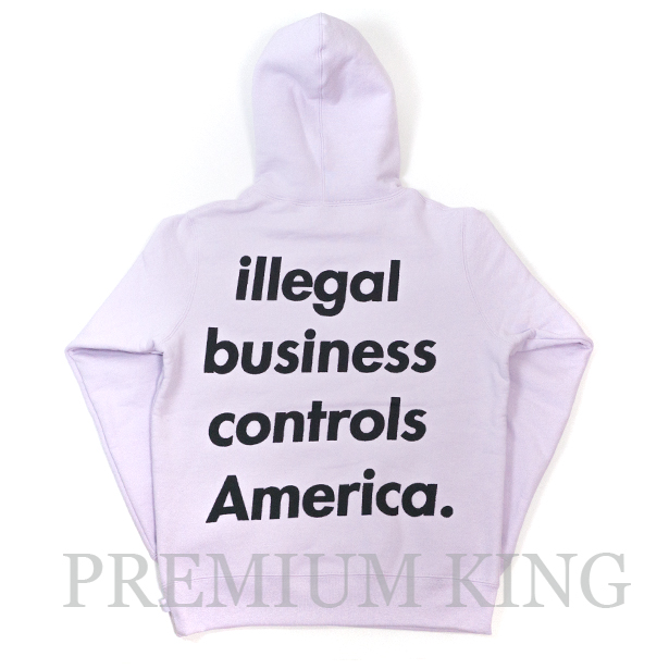 国内正規品 2018SS Supreme Illegal Business Hooded Sweatshirt Lavender 新品未使用品 [ シュプリーム イリーガル ビジネス フーディー パーカー ラベンダー 紫 ]