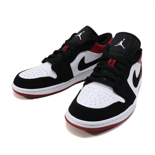 """国内正規品 2019 NIKE Air Jordan 1 Low """"Black Toe"""" White/Black-Gym Red 553558-116 新品未使用品 [ ナイキ エアジョーダン 1 ロー ブラック トゥー つま黒 ]"""