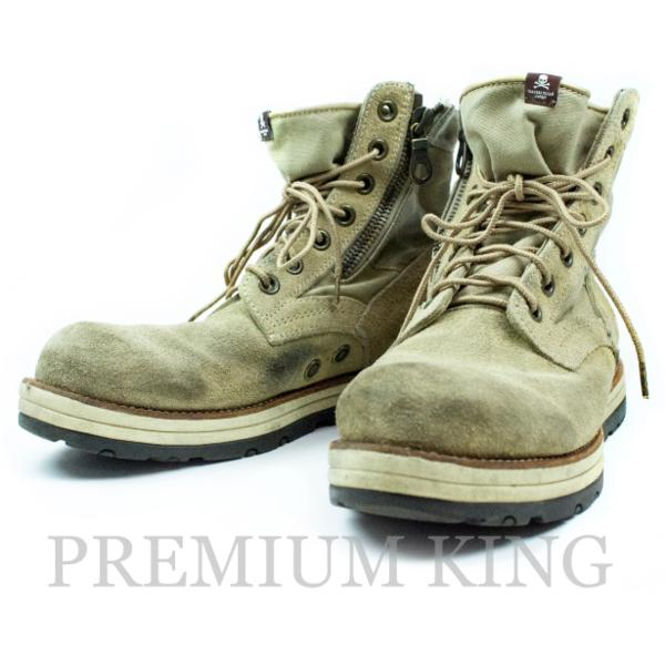 国内正規品 2012SS identity期 mastermind JAPAN × visvim  7Hole Boots ベージュ 中古品〔 マスターマインド ビズビム 7ホール ブーツ 春夏 〕