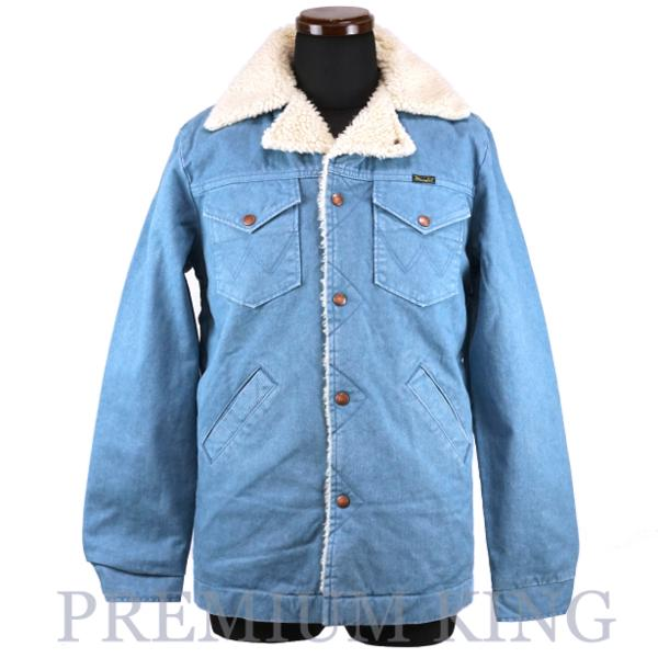 2015AW Wrangler × Ron Herman Ranch coat Blue 未使用品 [ ロンハーマン コンチョ ラングラー ランチコート ボアジャケット  ]