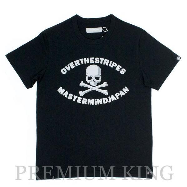 国内正規品 2013 mastermind JAPAN ×OVER THE STRiPES Skull T-shirt 未使用品〔 マスターマインド オーバーザストライプス コラボ スカル Tシャツ ブラック 黒 〕