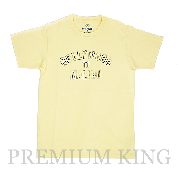 16SS RHC Ron Herman  HOLLYWOOD TO MALIBU LOGO PRINT TEE YELLOW 未使用品 [ ロンハーマン ハリウッド トゥ マリブ ロゴ プリント Tシャツ イエロー 黄色 ]
