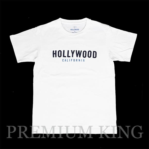 """16SS RHC Ron Herman  HOLLYWOOD TO MALIBU """"HOLLYWOOD"""" LOGO FELT TEE 未使用品 [ ロンハーマン ハリウッド トゥ マリブ ロゴ フェルト Tシャツ ロゴT ]"""