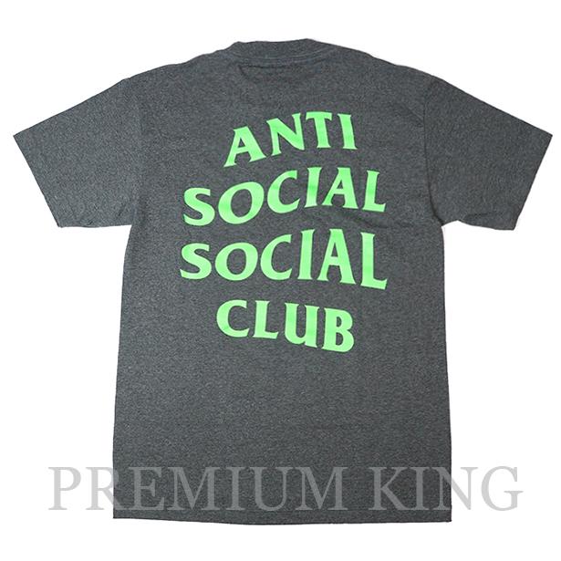 <即日発送>正規品 2017AW Anti Social Social Club Solid Snake Gunmetal Tee Dark Gray 新品未使用品 [ アンチ ソーシャル ソーシャル クラブ ロゴ Tシャツ ソリッド スネーク ガンメタル ダークグレー ]