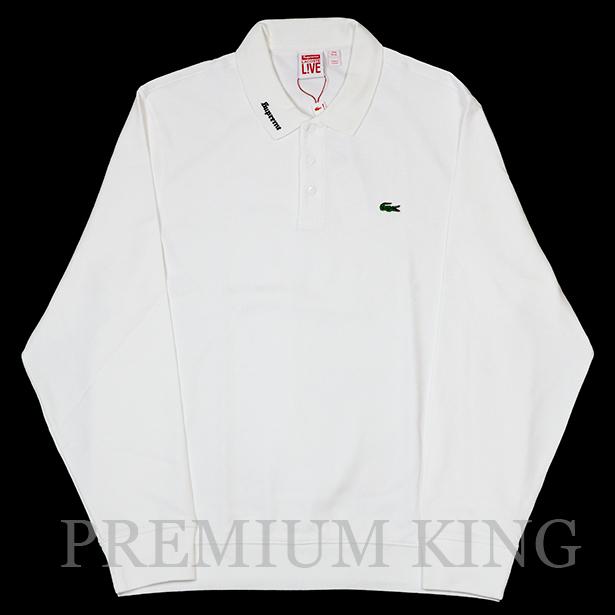 正規品 2017SS Supreme × LACOSTE L/S Jersey Polo White 新品未使用品 [ シュプリーム ラコステ ロングスリーブ ジャージー ポロシャツ ホワイト 白 ]