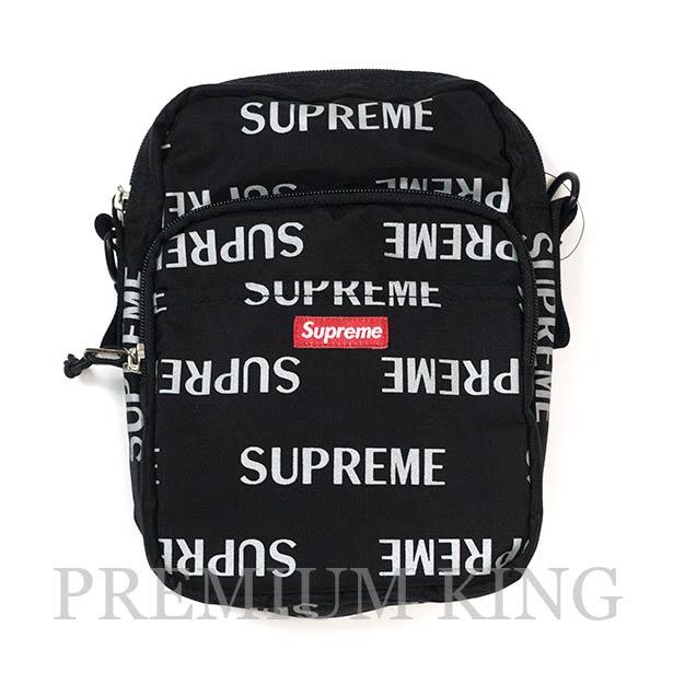 国内正規品 2016AW Supreme 3M Reflective Repeat Shoulder Bag Black 新品未使用品 [ シュプリーム リファレクティブ ショルダー バッグ ブラック 黒 ]
