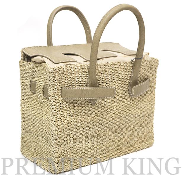 2017 SUMMER SEA Basket Birkin Grege Mサイズ 新品未使用品 [ シー カゴバーキン かごバッグ グレージュ ]