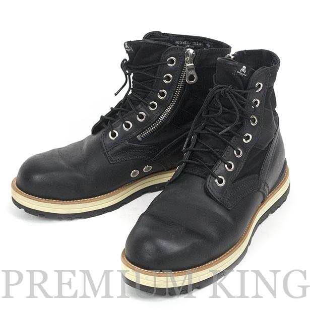 国内正規品 mastemind JAPAN × visvim 7 Hole Boots Black 美中古品 [ マスターマインド ビズビム セブンホール ブーツ ブラック 黒 コラボ VMA2-B005-3 ]