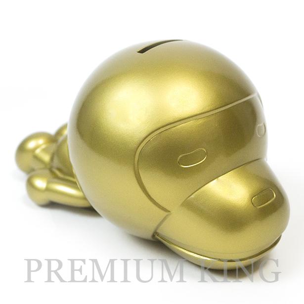 国内正規品 A BATHING APE MILO COIN BANK GOLD 新品未使用品 [ BAPE ア ベイシング エイプ マイロ 貯金箱 ゴールド ]