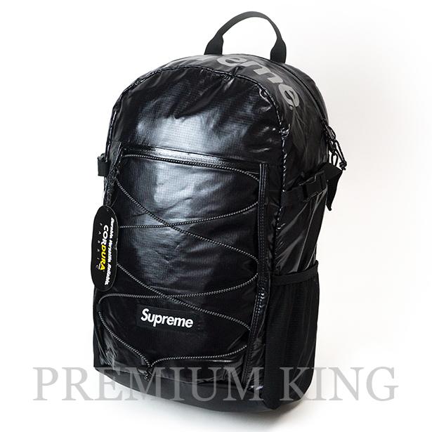 国内正規品 2017AW Supreme 100D Cordura laminated ripstop nylon Backpack Black 新品未使用品 [ シュプリーム コーデュラ ラミネート リップストップ ナイロン バックパック ブラック ]