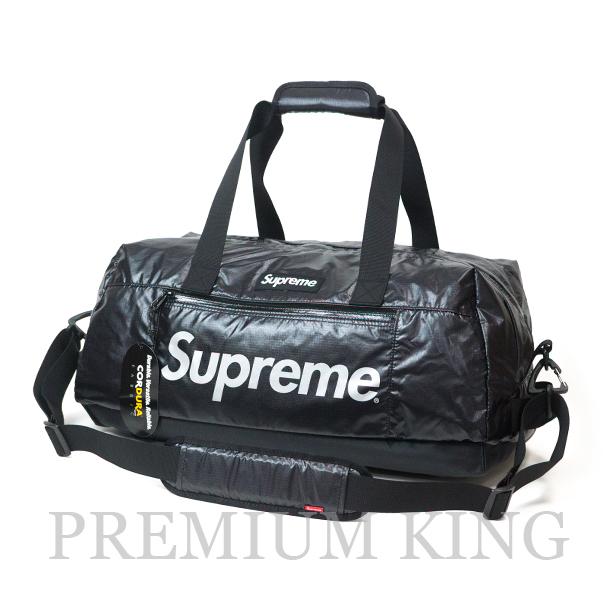 国内正規品 2017AW Supreme 100D Cordura laminated ripstop nylon Duffle Bag Black 新品未使用品 [ シュプリーム コーデュラ ラミネート リップストップ ナイロン ダッフル バッグ ブラック ]