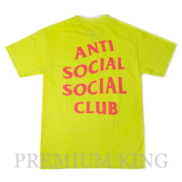 <即日発送>正規品 2017AW Anti Social Social Club I Still Feel The Same SHIRT Neon Yellow 新品未使用品 [ アンチ ソーシャル ソーシャル クラブ ロゴ Tシャツ ネオンイエロー 黄色 ]