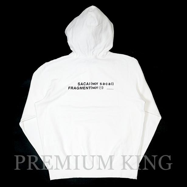 国内正規品 2017AW SACAI × FRAGMENT DESIGN Sweatshirt White 新品未使用品 [ サカイ フラグメント デザイン パーカー ホワイト 白 ]