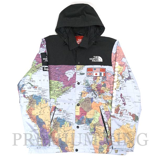 国内正規品 2014SS Supreme × The North Face Expedition Coaches Jacket Map 新品同様品 [ シュプリーム ザ ノース フェイス エクスペディション コーチ ジャケット マップ 地図 ]