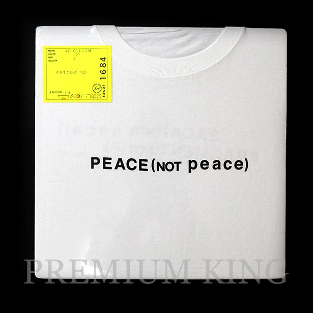 国内正規品 2017AW SACAI × FRAGMENT DESIGN PEACE (NOT peace) Tee WHITE 新品未使用品 [ サカイ フラグメント デザイン ピース (ノット ピース) Tシャツ ホワイト 白 ]