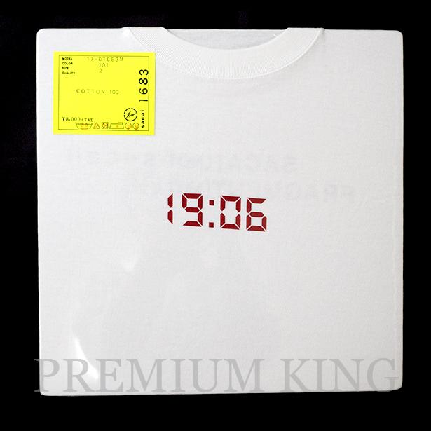 国内正規品 2017AW SACAI × FRAGMENT DESIGN 19:06 Tee WHITE 新品未使用品 [ サカイ フラグメント デザイン 19:06 Tシャツ ホワイト 白 ]