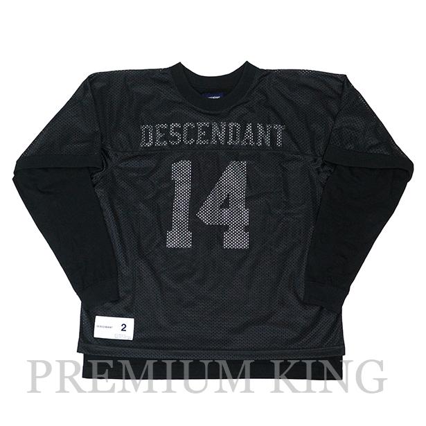 国内正規品 2017AW DESCENDANT SUBURBIA / LAYERED FOOTBALL TEE BLACK 新品未使用品 [ ディセンダント サバービア レイヤード フットボール Tシャツ 172ATDS-CSM01 ]