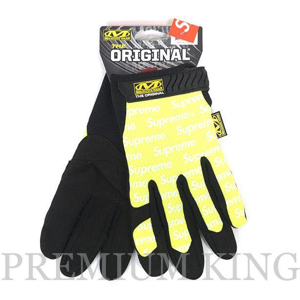 国内正規品 2017SS Supreme Mechanix Original Work Gloves Lime 新品未使用品 [ シュプリーム メカニックス オリジナル ワーク グローブ ライム イエロー]