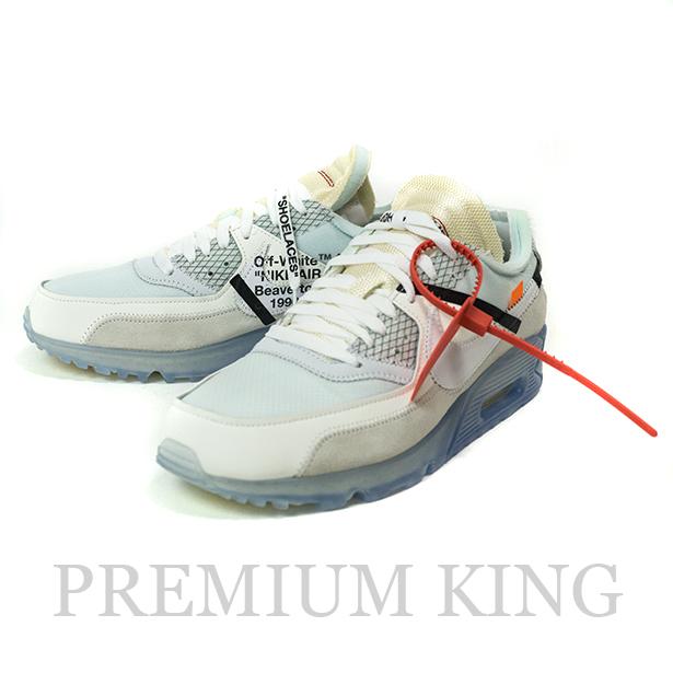 国内正規品 OFF-WHITE c/o VIRGIL ABLOH × NIKE The 10  AIR MAX 90 ICE White 新品未使用品 [ オフホワイト ヴァージル アブロー ナイキ ザテン エアマックス90 アイス  ホワイト 白 AA7293-100 ]