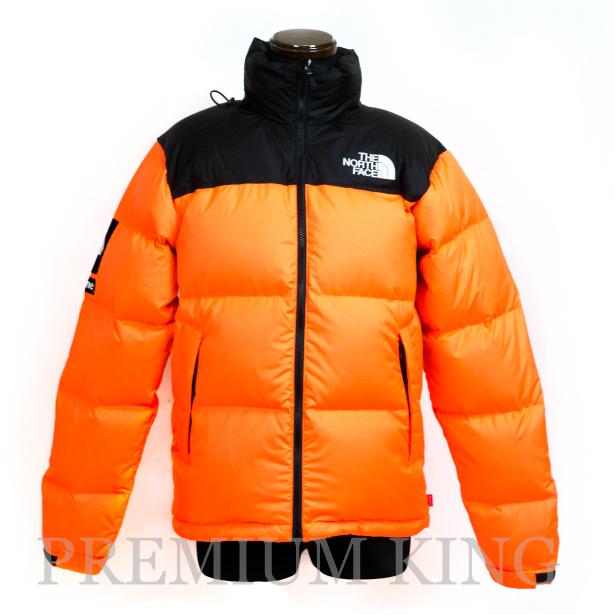 海外正規品 2016FW SUPREME × THE NORTH FACE Nuptse Jacket with packable hood orange 新品未使用品 [ シュプリーム ノースフェイス ヌプシジャケット パッカブル フード  オレンジ ]