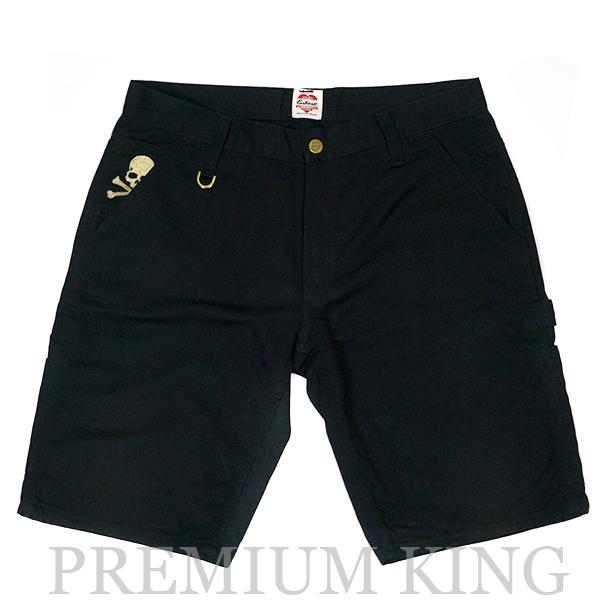 国内正規品 2011AW mastermind JAPAN x Carhartt Logger Bermuda shorts Black 中古品 [ マスターマインド ジャパン カーハート ロンガー バミューダ ショーツ ブラック 黒 244-000367-621 ]