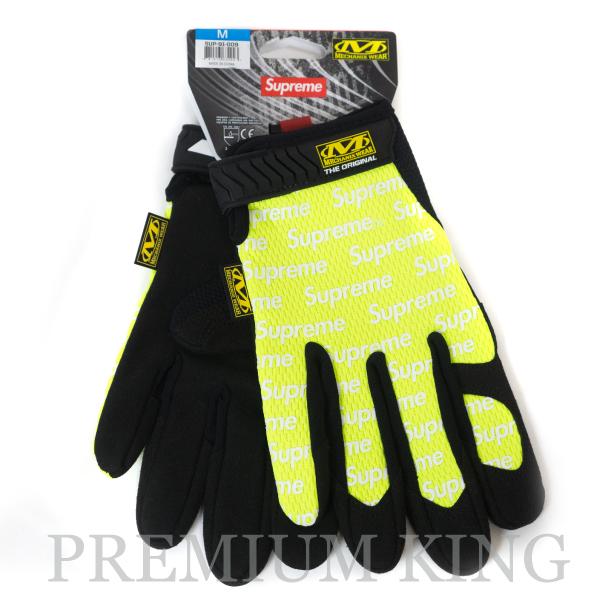 正規品 2017SS Supreme Mechanix Original Work Gloves Lime 新品未使用品 [ シュプリーム メカニックス オリジナル ワーク グローブ ライム イエロー]