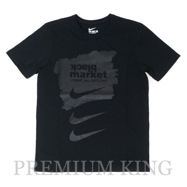 国内正規品 NIKE × COMME des GARCONS LOGO PRINT TEE BLACK 新品未使用品  [ ナイキ コム・デ・ギャルソン ロゴ プリント Tシャツ ブラック 黒 BLACK MARKET OS-T010 ]