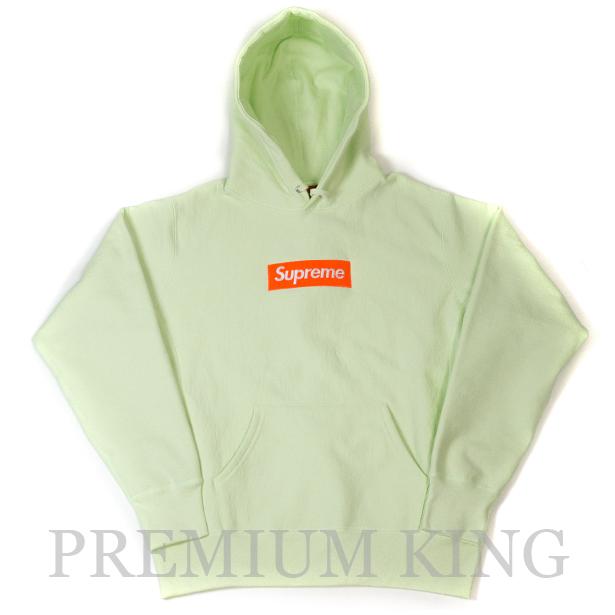 国内正規品 2017AW Supreme Box Logo Hooded Sweatshirt Pale Lime 新品未使用品 [ シュプリーム ボックス ロゴ フーディ パーカー ペール ライム Green グリーン ]