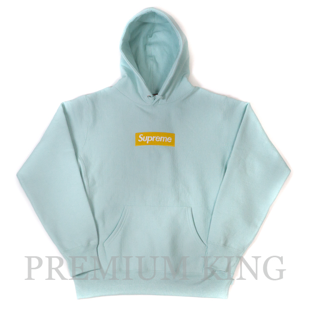 国内正規品 2017AW Supreme Box Logo Hooded Sweatshirt Ice Blue 新品未使用品 [ シュプリーム ボックス ロゴ フーディ パーカー ブルー 青]