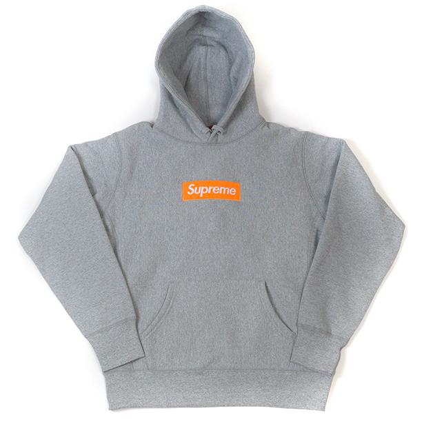 国内正規品 2017AW Supreme Box Logo Hooded Sweatshirt Heather Grey 新品未使用品 [ シュプリーム ボックス ロゴ フーディ パーカー グレー ]