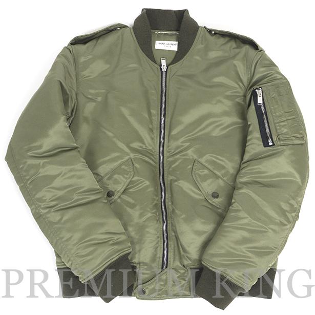 国内正規品 2016 SAINT LAURENT PARIS Classic Bomber Jacket Khaki 新品同様品 [サンローラン パリ クラシック ボンバー ジャケット カーキ 397643YYL53 ]