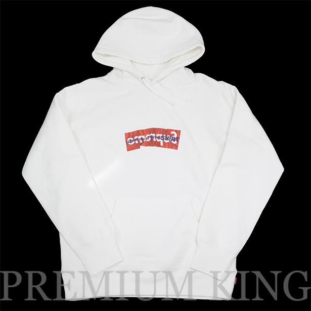 国内正規品 2017SS Supreme × COMME des GARCONS SHIRT Box Logo Hooded Sweatshirt White 新品未使用品  [ シュプリーム コムデギャルソン ボックス ロゴ フーディー パーカー ホワイト 白 ]