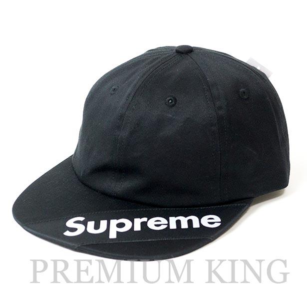 国内正規品 2018SS Supreme Visor Label 6-Panel Cap Black 新品未使用品 [ シュプリーム バイザー ラベル 6 パネル キャップ ブラック 黒 ]
