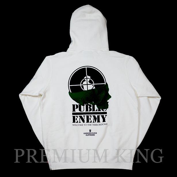 国内正規品 2018SS Supreme/Undercover/Public Enemy Terrordome Hooded Sweatshirt White 新品未使用品 [ シュプリーム アンダーカバー パブリックエネミー テラードーム フーディ パーカー ホワイト 白 ]