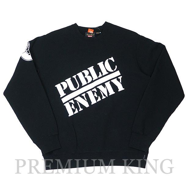 国内正規品 2018SS Supreme/Undercover/Public Enemy Crewneck Sweatshirt Black 新品未使用品 [ シュプリーム アンダーカバー パブリックエネミー クルーネック ブラック 黒 ]